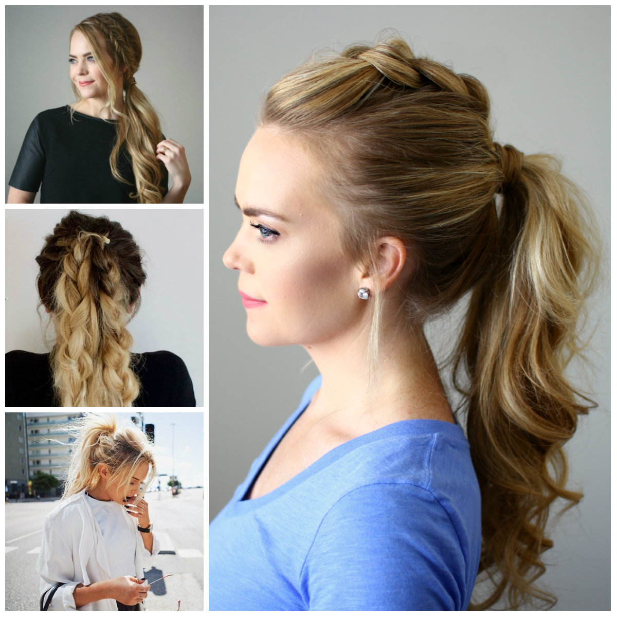 effortless messy ponytail hairstyles | 2017 haircuts, hairstyles