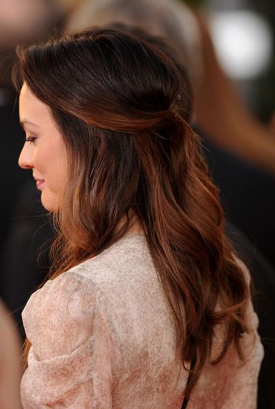 Half up Half down layered Hair