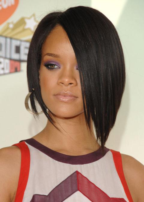 Rihanna Angled Bob