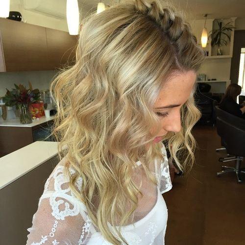 Side Braid Wavy Hairstyle
