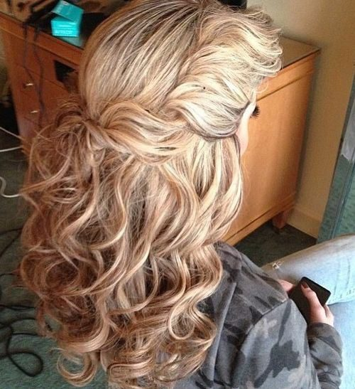 Twist and Pinned Up Half Updo