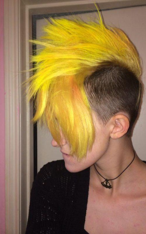yellow mohawk