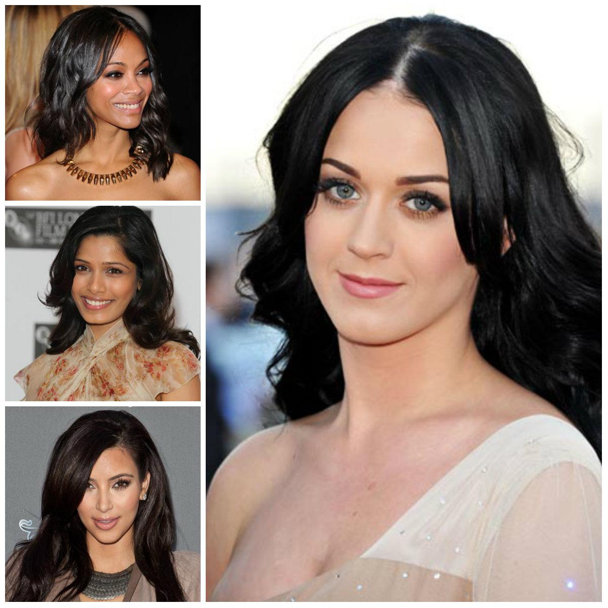 2022 Super Dark Hair Colors by Celebrities