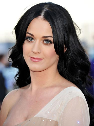 Katy Perry Jet black hair