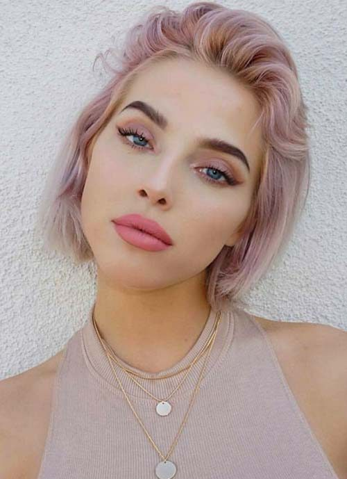 Pink Wispy Short Haircut for 2022