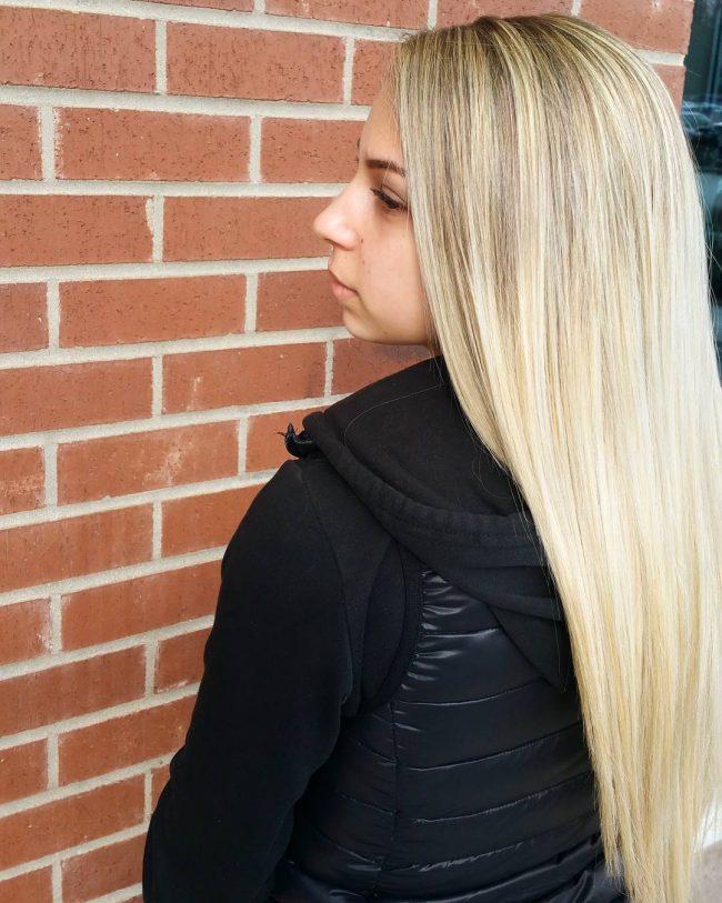 Long Sandy Blonde Hair