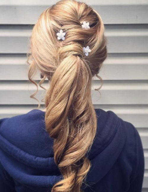 Ponytail with Caramel and Beach Blonde