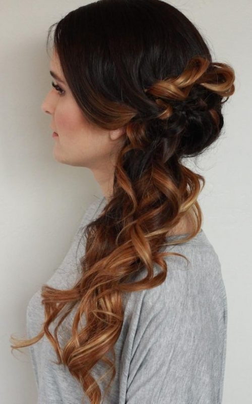 Side Ombre Upstyle