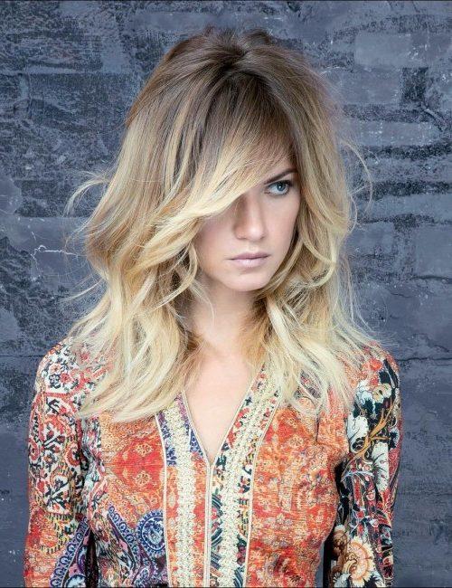 Tousled Wavy Blonde Hair