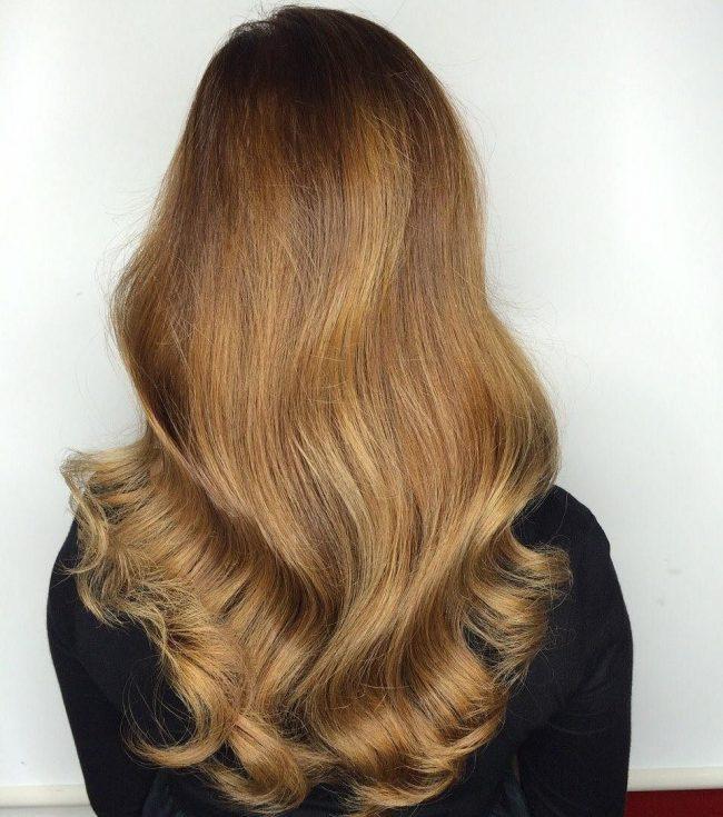 v shaped curls