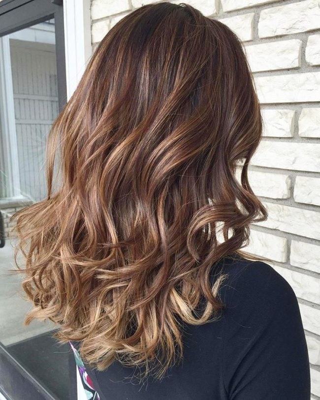 sombre with chocolate brown hair
