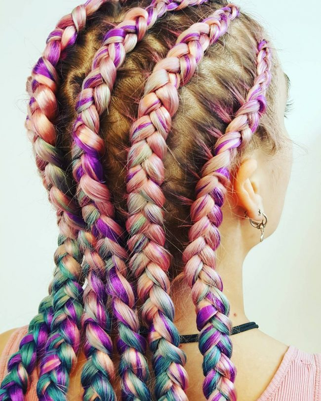 unicorn braids