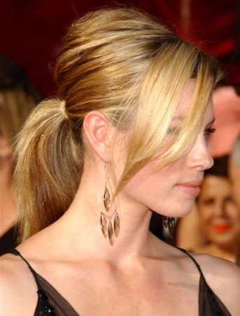 bang ponytail
