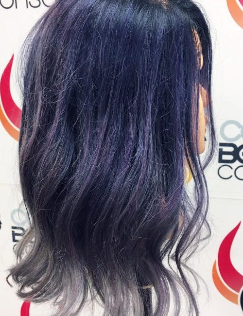 Blue Black to Gray with Hint of Purple