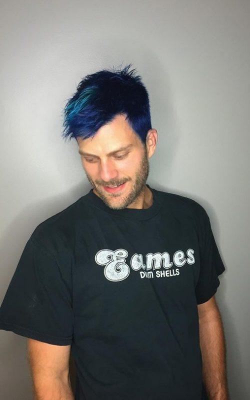 Blue Pixie Hair
