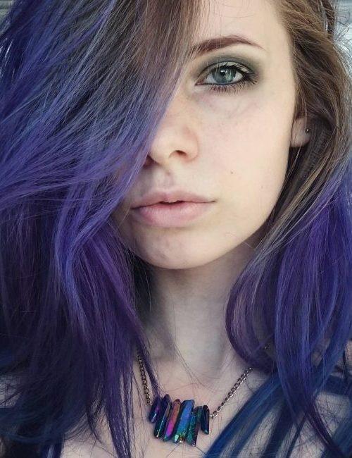 Brown Purple Waves