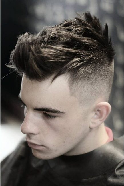 Heavy Spikes with Bald Fade