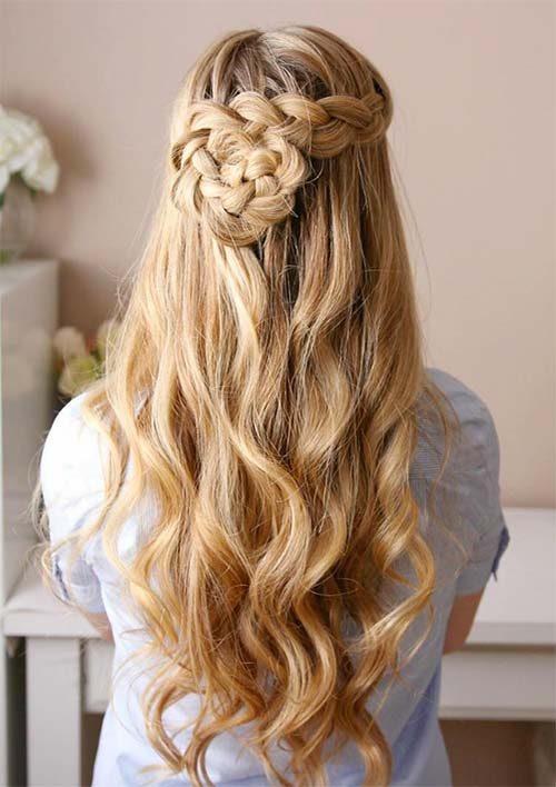 Dutch Braided Flower Hair
