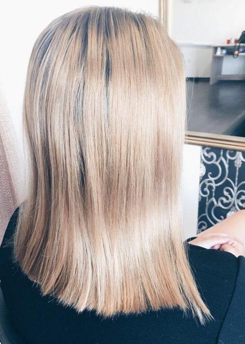 Honey Blonde with Dark Roots