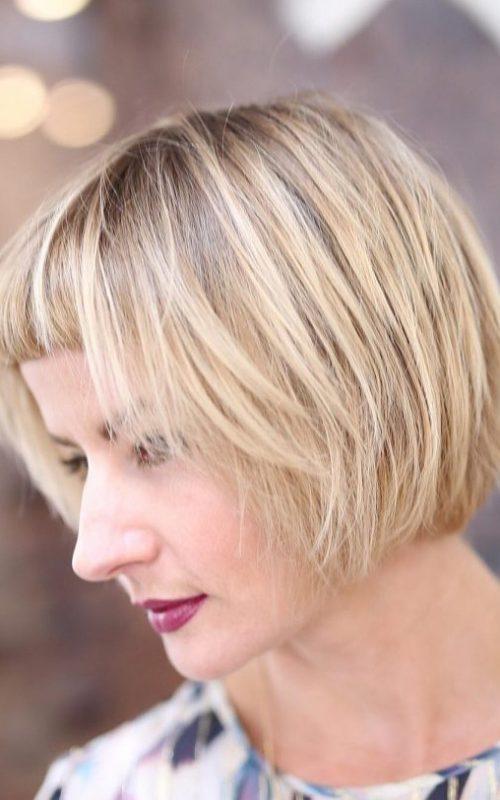 Sandy Blonde with Dark Roots