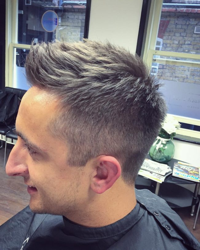 Simple Front Swept with Taper Fade