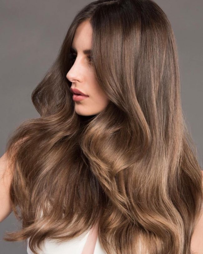 Voluminous Light Brown Hair