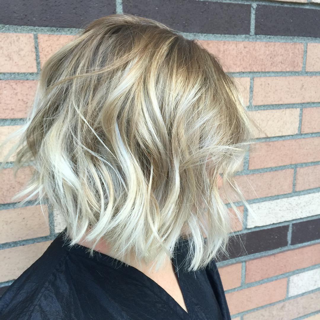 Blonde Messy Waves