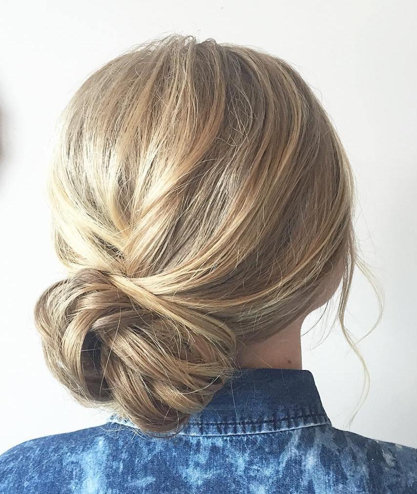 Low Side Bun for Thin Hair