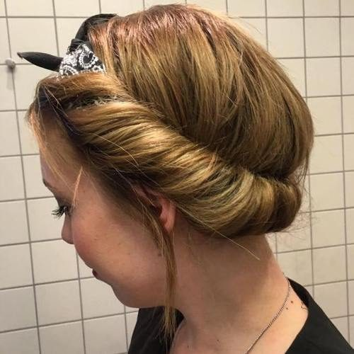Rolled Up Hairdo