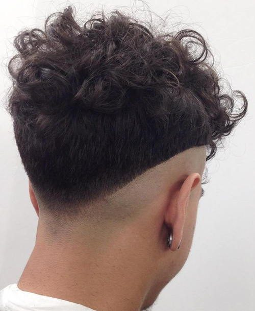 V Fade with Curls