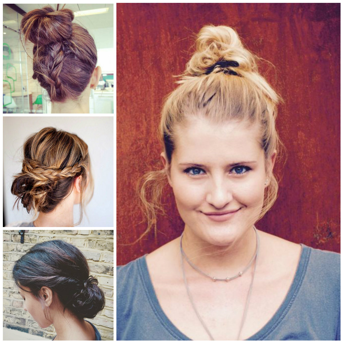 2017 Messy Bun Hairstyles for Females