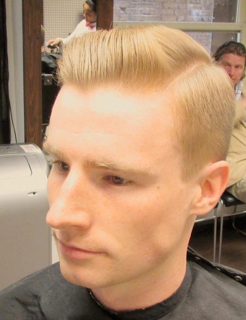 Blonde Side Parted Hair