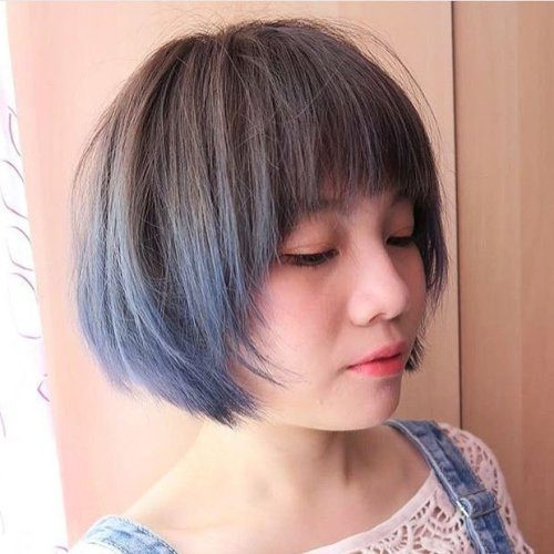 Ombre Pageboy Haircut