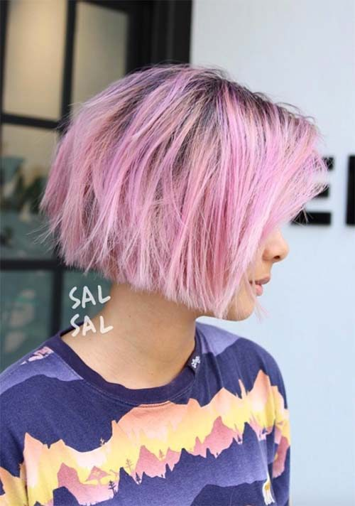 Pink Bob with Layers