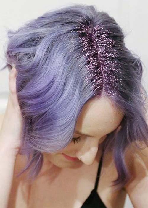 Purple Glitter Roots