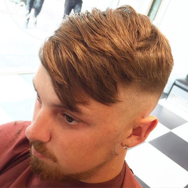 Texturised Top Hair and Short Sides