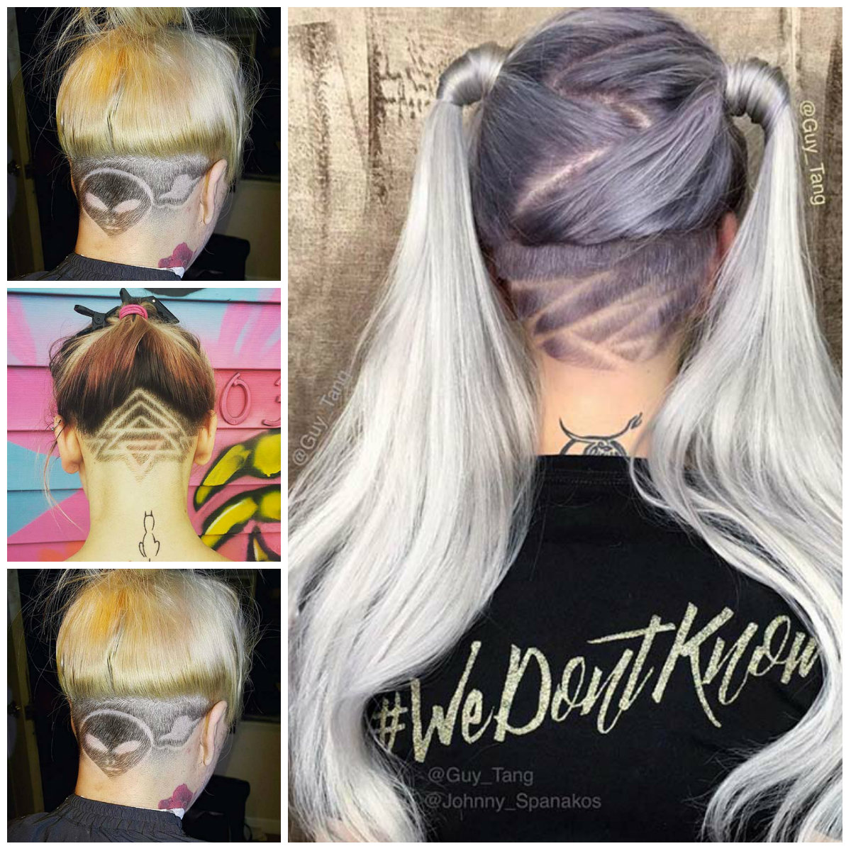 Females' Undercuts with Hair Tattoos for 2017