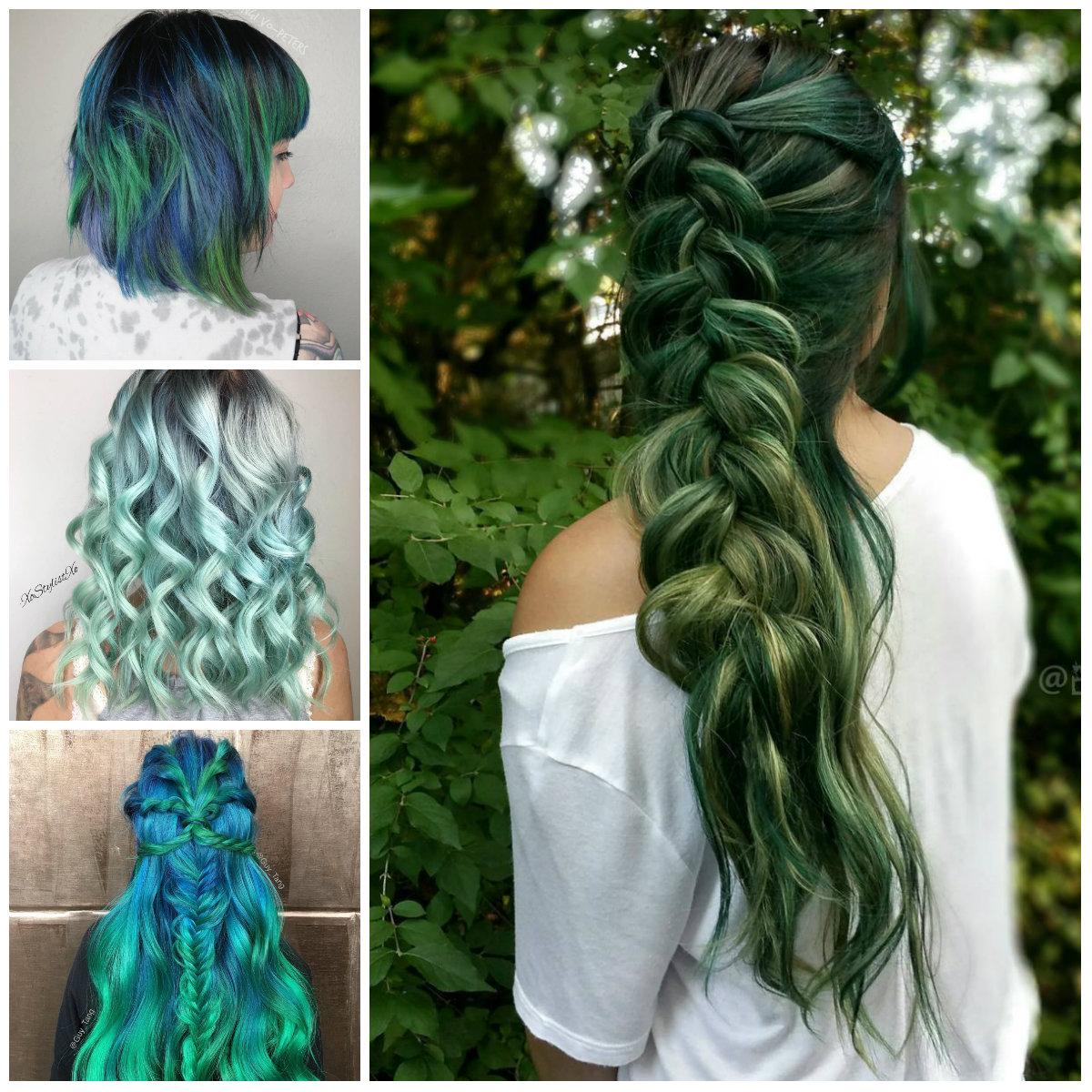 Green Hair Color ideas for 2017