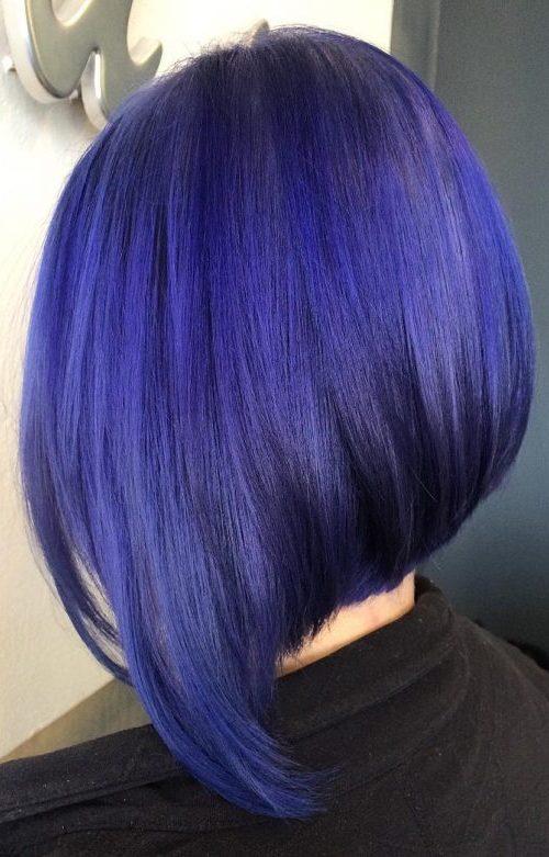 A Line Blue Violet Bob