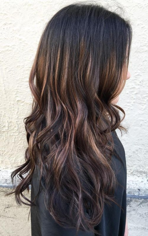 Chocolate Brown Hair with Highlights