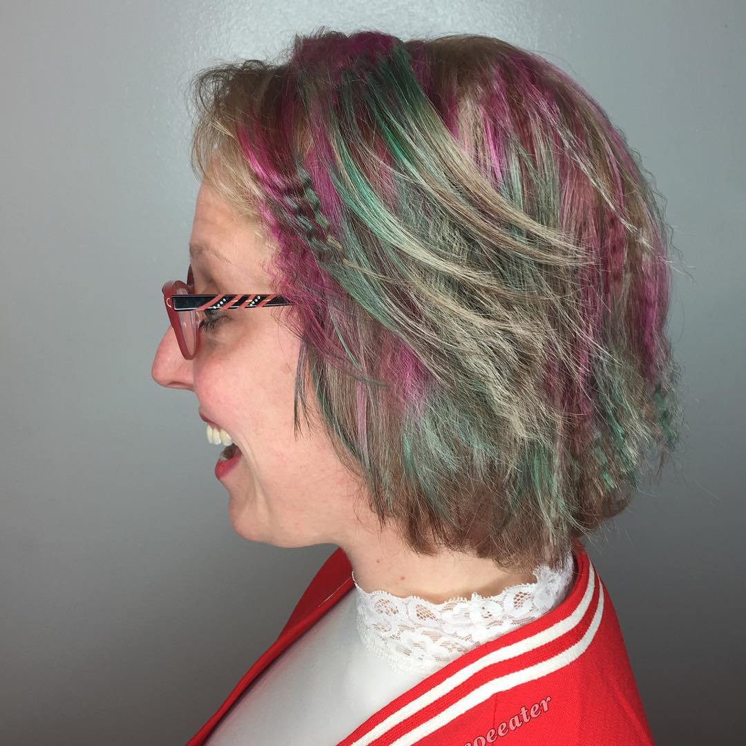 Colorful Crimped Hair