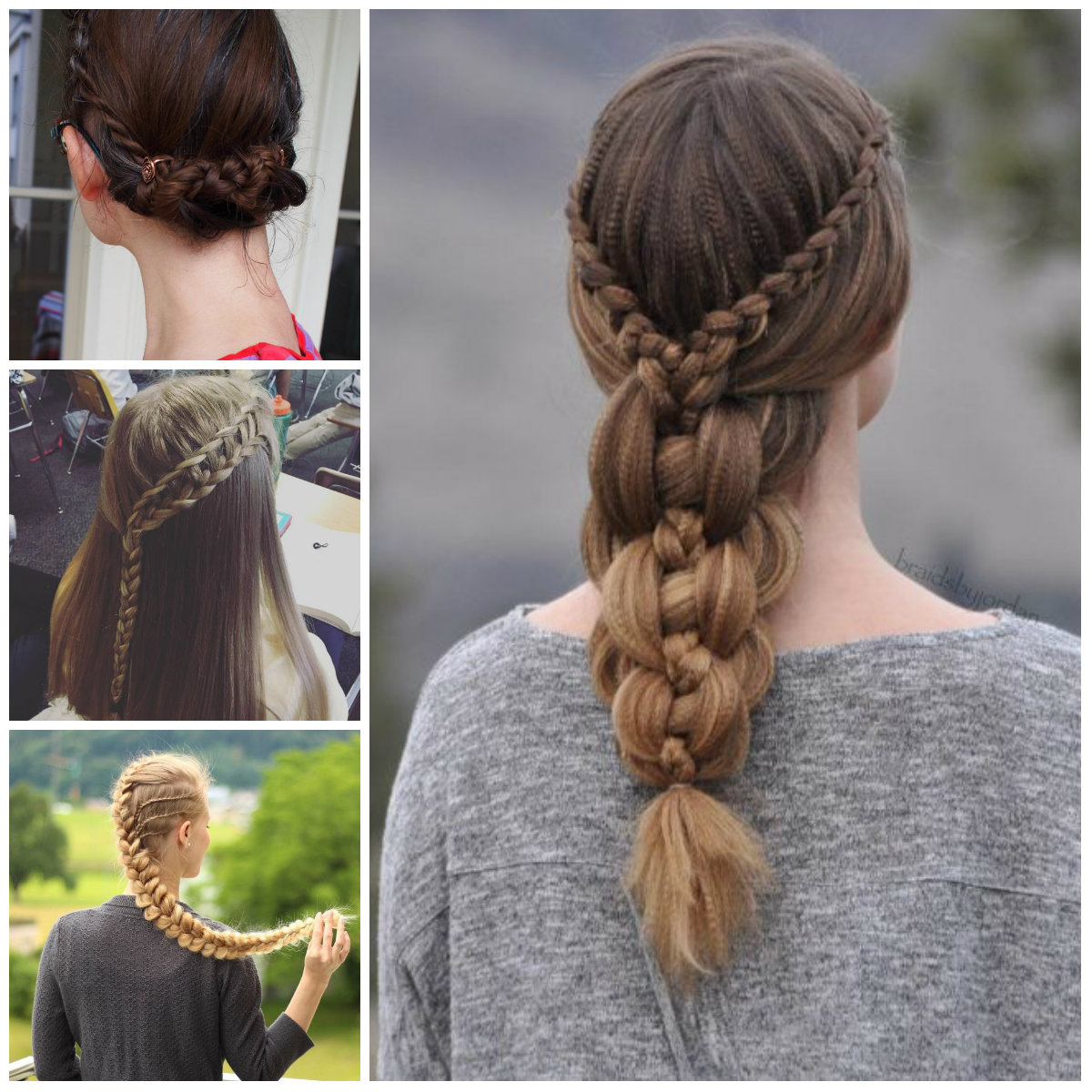 Cute Lace Braids Hairstyles for Girls