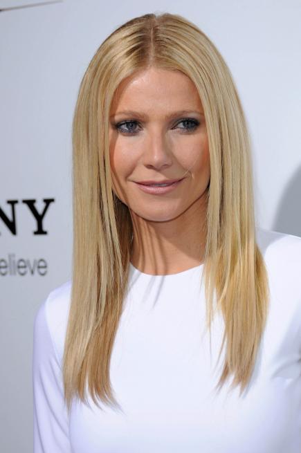 Gwyneth Paltrow Sleek Center Part