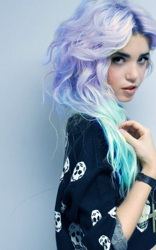 Lavender Mint Green Hair Ombre