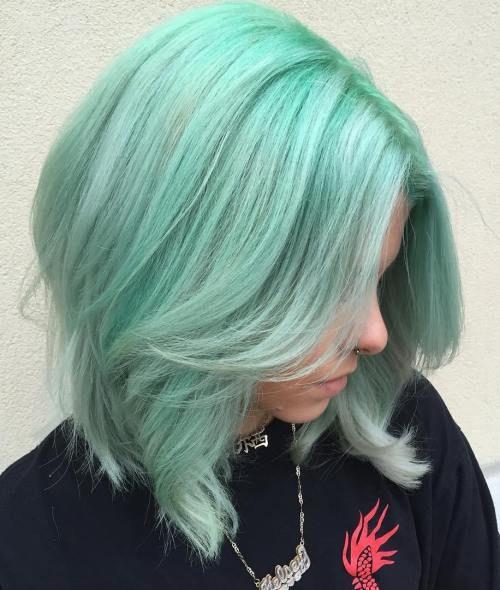Braided Mint Green Hair