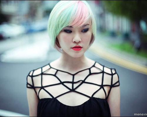 Mint Hair Color with Color Splash