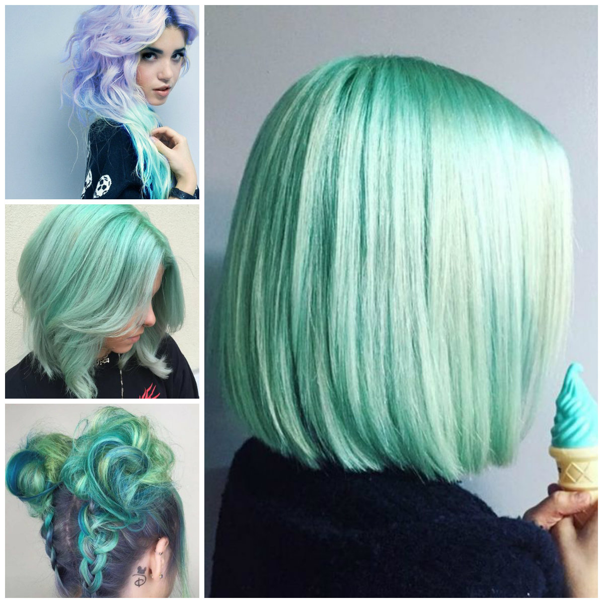 Mint green Hair Color for 2017