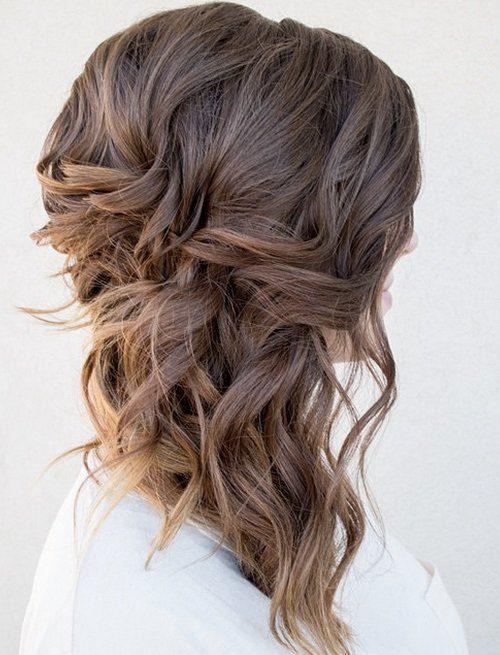 Hochzeits-Frisur für mittellange Haare