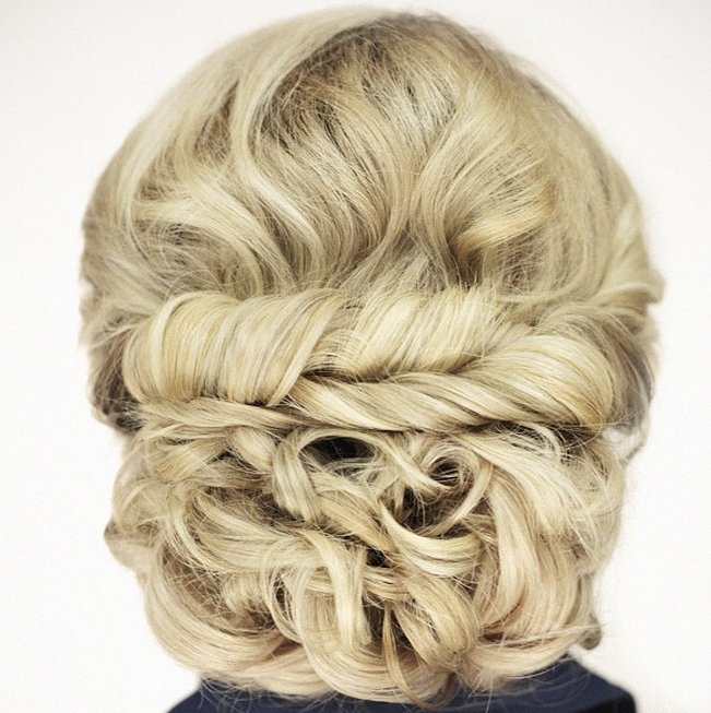 Blonde Twisted Updo