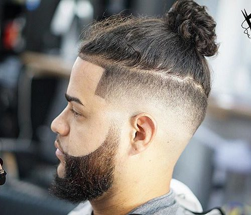 Men Bun for Curly Hair